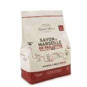 Paillettes de savon de Marseille vert pour le linge